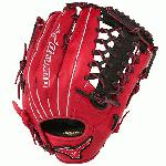 Mizuno GMVP1277PSE3 MVP Prime Baseball Glove 12.75 inch (Red-Black, Right Hand Throw) : Patent pending Heel Flex Technology increases flexibility and closure. Center pocket design. Strong edge creates a more stable thumb and pinky. Smooth professional style. Oil Plus leather, the perfect balance of oiled softness for exceptional feel and firm control that serious players demand. Durable Steer soft palm liner. Matching outlined embroidered logo. Two tone lace.