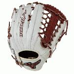 Mizuno GMVP1277PSE3 MVP Prime Baseball Glove 12.75 inch (Silver-Brown, Right Hand Throw) : Patent pending Heel Flex Technology increases flexibility and closure. Center pocket design. Strong edge creates a more stable thumb and pinky. Smooth professional style. Oil Plus leather, the perfect balance of oiled softness for exceptional feel and firm control that serious players demand. Durable Steer soft palm liner. Matching outlined embroidered logo. Two tone lace.
