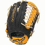 12.75 Inch Pattern Bio Soft Leather - Pro-Style Smooth Leather That Balances Oil and Softness with Firm Control Center Pocket Design - Naturally Centers the Pocket Under the Index Finger for the Perfect Break-In Colorway Black Gold Conventional Open Back Heel Flex Technology - Creates A More Flexible Forgiving Heel for Ultimate Feel and Performance Ideal for Outfield Play Plus Grip Thumb - Ultra Comfortable Padded Thumb Slot Professional Level Lace - Same High-Quality Laces Offered in Mizuno Pro Gloves Shock 2 Web Strong Edge Lace Design - Adds Stability to Thumb and Pinky Stall to Increase Longevity Ultra Soft Palm Liner - Soft Finish for Excellent Feel