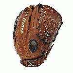 The Mizuno GMVP1300F1 is a 13.00-Inch outfielder's glove made from soft Bio Throwback leather and is game ready.