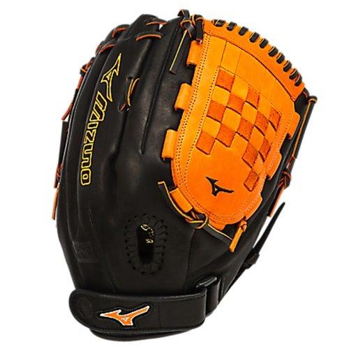 mizuno-gmvp1300psef3-fastpitch-softball-glove-13-inch-black-orange-right-hand-throw GMVP1300PSEF3-Blk-OnargeRight Hand Throw Mizuno New Mizuno GMVP1300PSEF3 Fastpitch Softball Glove 13 inch Black-Orange Right Hand Throw
