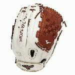 Mizuno GMVP1300PSEF3 Fastpitch Softball Glove 13 inch (Silver-Brown, Right Hand Throw) : Patent pending Heel Flex Technology increases flexibility and closure. Center pocket design. Strong edge creates a more stable thumb and pinky. Smooth professional style. Oil Plus leather, the perfect balance of oiled softness for exceptional feel and firm control that serious players demand. Durable Steer soft palm liner. Matching outlined embroidered logo. Two tone lace.