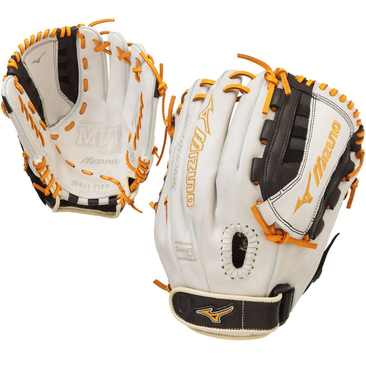 mizuno-gmvp1300psef4-mvp-prime-se-gloves-silver-black-right-hand-throw GMVP1300PSEF4-SIL-Black-RightHandThrow Mizuno B0189KZHLE Fastpitch Softball Specific Fit and Design Heel Flex Technology - Creates