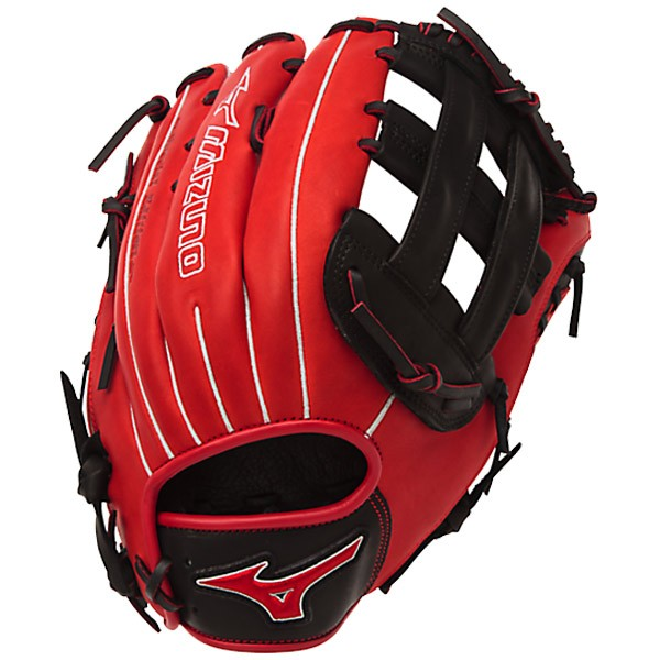mizuno-gmvp1300pses4-mvp-prime-se-mitts-red-black-right-hand-throw GMVP1300PSES4-RED-BLACK-RightHandThrow Mizuno 041969558508 13.00 Inch Pattern Bio Soft Leather - Pro-Style Smooth Leather That