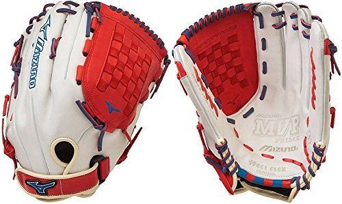 mizuno-gmvp1400pses4-mvp-prime-se-softball-glove-silver-red-right-hand-throw GMVP1400PSES4-SIL-RED-ROY-RightHandThrow Mizuno 041969558591 MVP Prime SE Ball Glove Features Center pocket designed patterns Bio