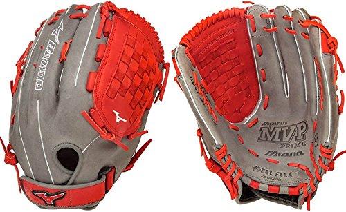 mizuno-gmvp1400pses4-mvp-prime-se-softball-glove-smoke-red-right-hand-throw GMVP1400PSES4-SMOKE-RED-RightHandThrow Mizuno 041969558621 MVP Prime SE Ball Glove Features Center pocket designed patterns Bio