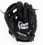 Mizuno Prospect series baseball gloves have patent pending heel flex technology that increases flexibility and closure. Parashock palm pad and butter soft lining in select models reduces shock and sting. Power close makes catching easy. Helps youth players learn to catch the right way in the pocket.