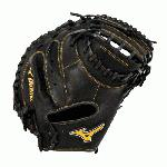 Mizuno GXC50PB1 Prime Catchers Mitt 34 inch (Right Hand Throw) : Smooth, professional style Oil Soft Plus Leather is the perfect balance of oiled softness for exceptional feel and firm control that serious players demand. Outlined, embroidered logo. Center pocket desgin patterns. Plus grip thumb for added comfort.