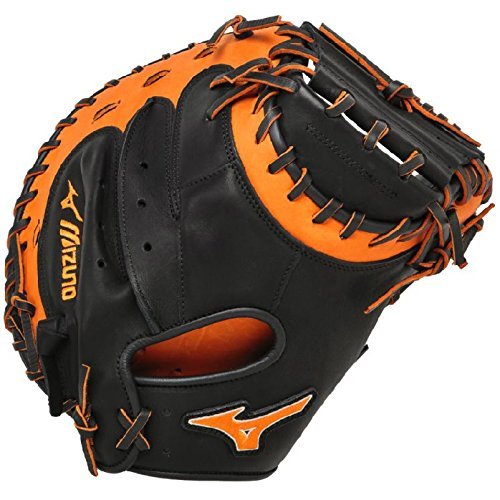 mizuno-gxc50pse3-catchers-mitt-34-inch-mvp-prime-black-orange-right-hand-throw GXC50PSE3-Black-OrangeRight Hand Throw Mizuno New Mizuno GXC50PSE3 Catchers Mitt 34 inch MVP Prime Black-Orange Right Hand