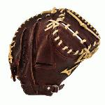 Mizuno Franchise series baseball catchers mitt 33.5 inch. Hi-Low Lacing. Baseball Specific Patterns. ParaShock Palm Pad. Pre-Oiled Java Leather. 33.5 inch Catchers Baseball Pattern. One Year Manufacturer's Warranty. MVP Series GXC90B1 Catcher Glove: Made for the ball player striving to get to the next level. Soft pebbled, bio throwback leather for game ready performance and long lasting durability.