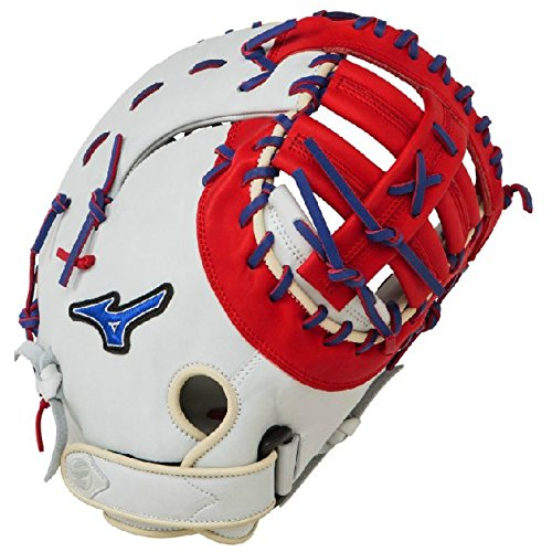 mizuno-gxf50pse3-mvp-prime-first-base-mitt-13-inch-silver-red-royal-right-hand-throw GXF50PSE3-Silver-Red-RoyalRightHandThrow Mizuno New Mizuno GXF50PSE3 MVP Prime First Base Mitt 13 inch Silver-Red-Royal Right