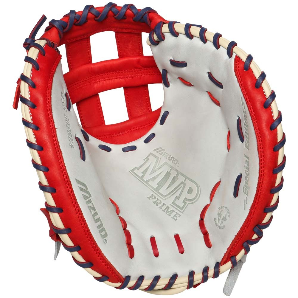 mizuno-gxs50pse4-mvp-prime-se-catchers-mitts-silver-red-right-hand-throw GXS50PSE4-SIL-RED-ROY-RightHandThrow Mizuno 041969558676 Mizuno MVP Prime SE GXC50PSE4 34 inch Catchers Mitt is offered