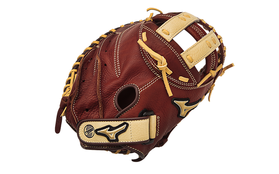 mizuno-mvp-fastpitch-catchers-mitt-brick-dust-34-right-hand-throw GXS58-Right Handed Throw Mizuno 041969558355 Bio Throwback Leather Soft pebbled leather for game ready performance and
