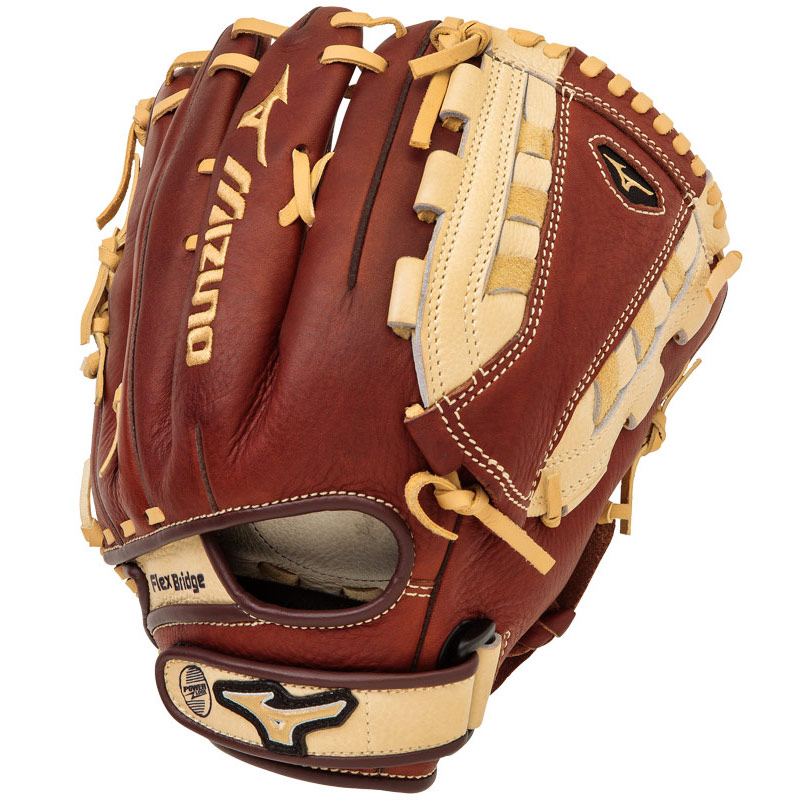 mizuno-mvp-fastpitch-gmvp1250f2-softball-glove-12-5-right-hand-throw GMVP1250F2-RightHandThrow  041969558317 MVP Fastpitch Glove Features Center Pocket Designed Patterns BioThrowback Leather Ultra