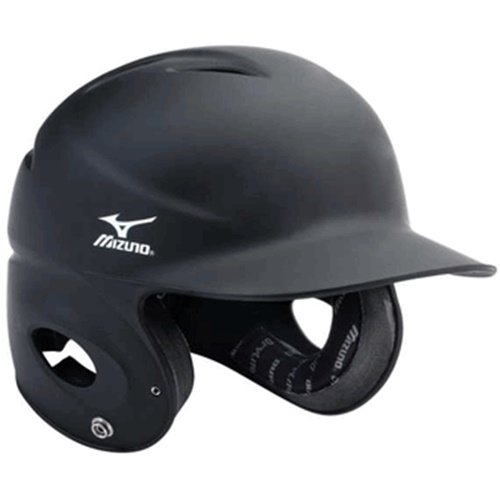 Unique matte finish Mizuno Batting Helmet NoCSAE Certified Strategically placed ventilation holes, durable ABS plastic shell.