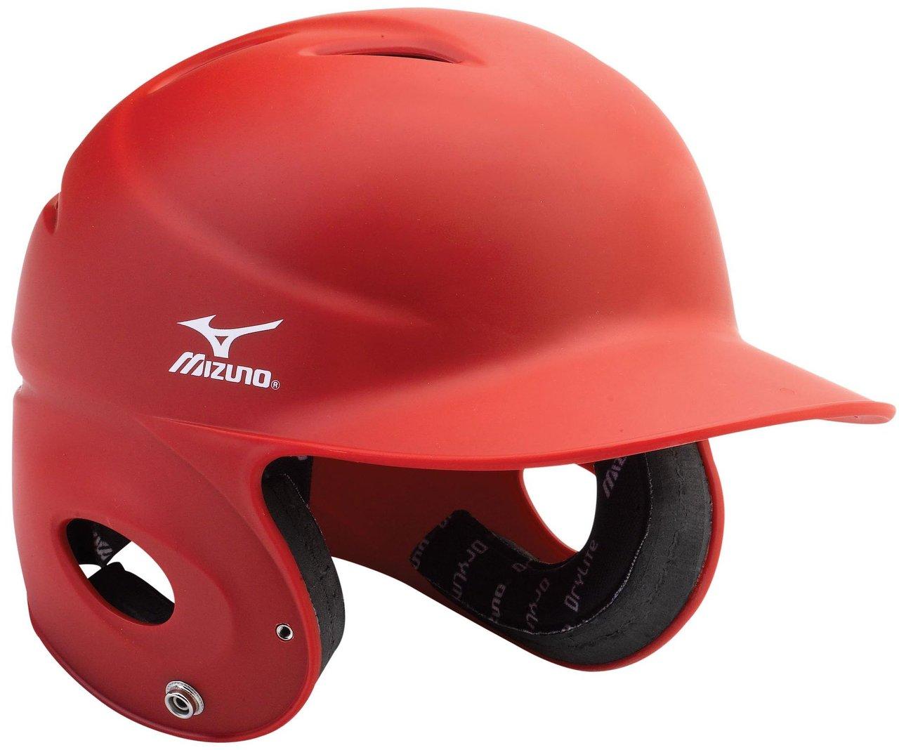 mizuno-mvp-fitted-batters-helmet-red-small 380136-RedSmall Mizuno 041969965399 Unique matte finish