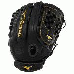 Mizuno MVP Prime Fast Pitch GMVP1250PF1 Softball Glove 12.5 (Right Hand Throw) : Smooth, professional style Oil Soft Plus Leather is the perfect balance of oiled softness for exceptional feel and firm control that serious players demand. V-Flex Notch to help initiate easy closure. PowerLock closure for maximum performance. Center pocket designed patterns offer the most versatile break-in possible. Vertically laced heel special for fast pitch patterns. 11.50 Infield. Trident 2 Web.