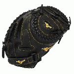 The Mizuno GXS50PF1 MVP Prime fast pitch catcher's mitt is made with Professional style Oil Soft Plus leather that has the perfect balance of oil and softness for exceptional feel and firm control that serious players demand.  The center pocket design pattern offers the most versatile break-in possible.