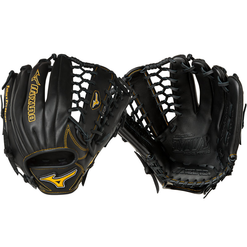 mizuno-mvp-prime-future-baseball-glove-12-25-black-right-hand-throw GMVP1225PY2-RightHandThrow Mizuno 889961044151 The MVP Prime Future Youth has Center Pocket Designed Patterns that