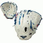 Mizuno MVP Prime GMVP1250PSEF5 Fast Pitch Softball Glove 12.5 Silver Red Navy Left Hand Throw