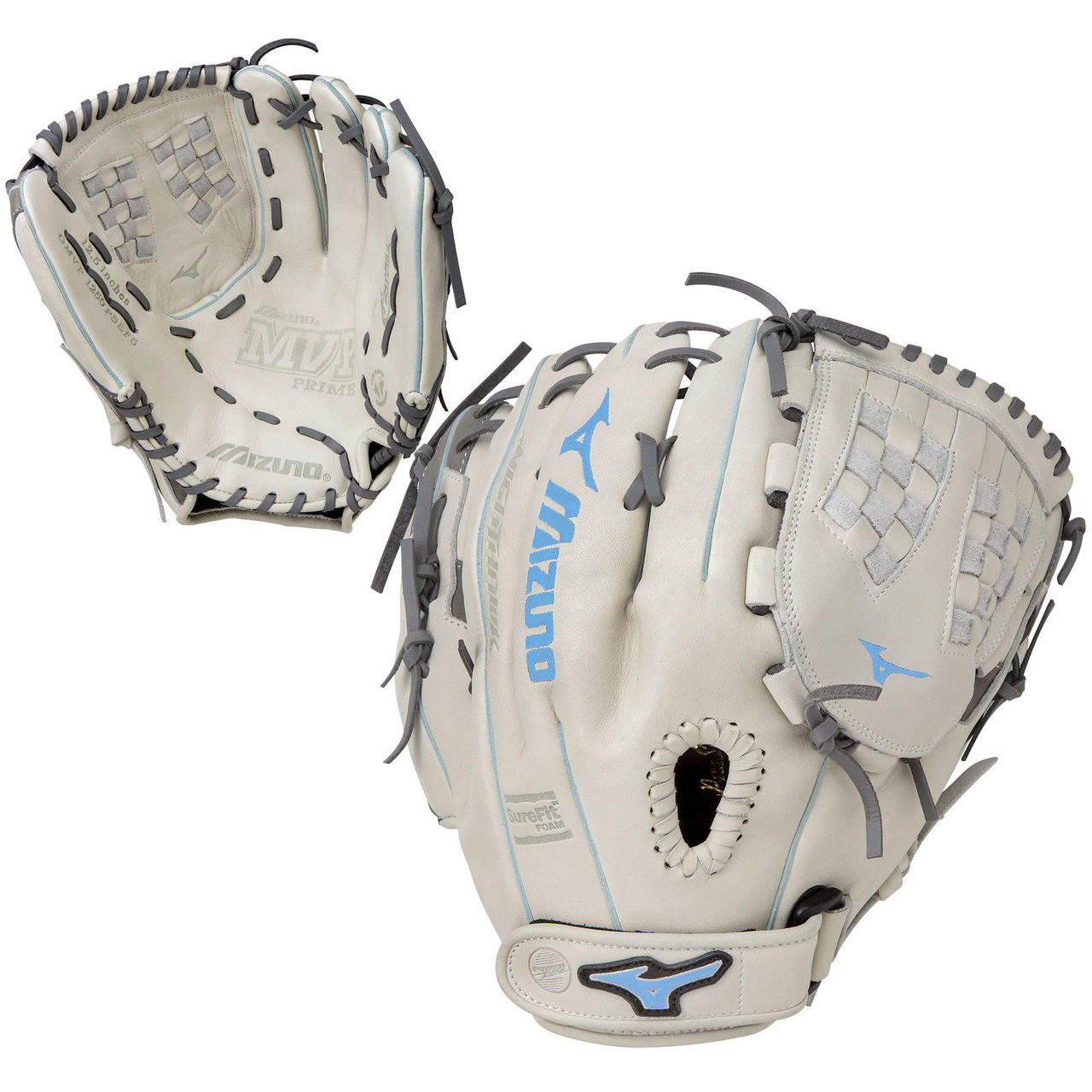 mizuno-mvp-prime-se-12-5-gmvp1250psef5-fastpitch-softball-glove-silver-grey-blue-right-hand-throw GMVP1250PSEF5-SIGRBL-RightHandThrow Mizuno 889961059797 The MVP Prime SE fastpitch softball series gloves feature a Center