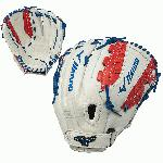 mizuno mvp prime se 13 inch gmvp1300psef5 fastpitch softball glove silver red navy right hand throw