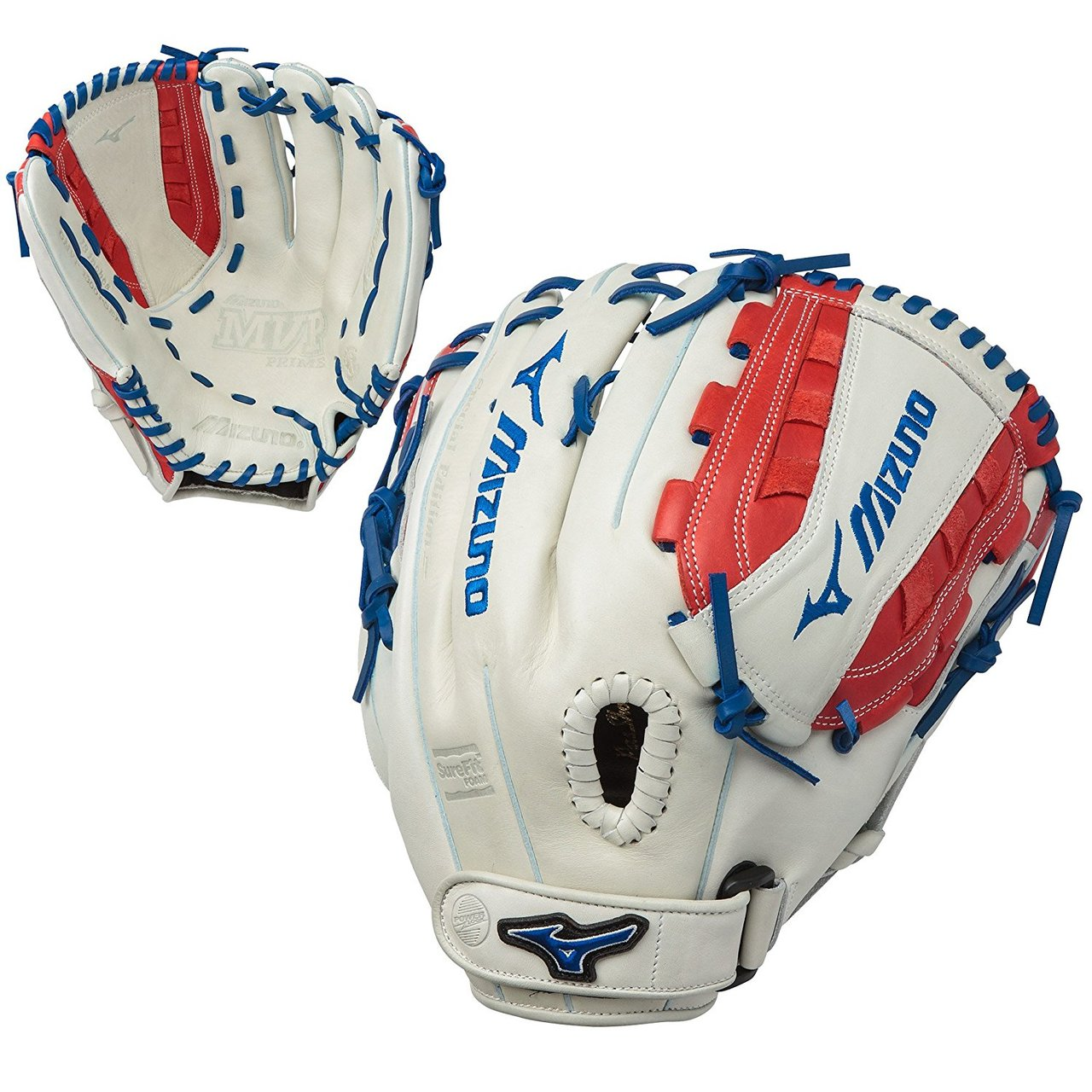 mizuno-mvp-prime-se-13-inch-gmvp1300psef5-fastpitch-softball-glove-silver-red-navy-right-hand-throw GMVP1300PSEF5-SIRDNV-RightHandThrow Mizuno 889961059858 The MVP Prime SE fastpitch softball series gloves feature a Center