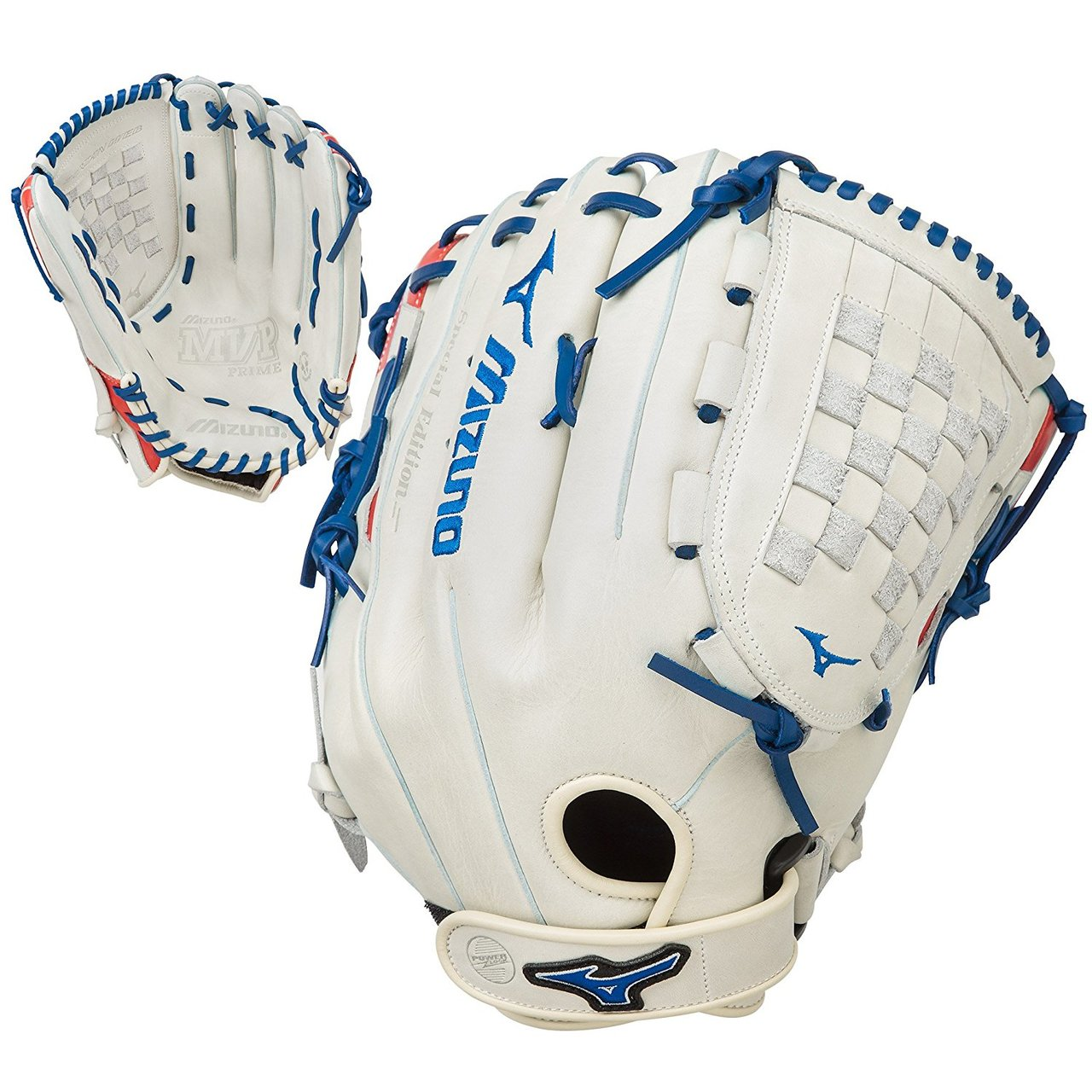 mizuno-mvp-prime-se-14-inch-gmvp1400pses5-slowpitch-glove-silver-red-navy-right-hand-throw GMVP1400PSES5-SIRDNY-RightHandThrow  889961060151 The Special Edition MVP Prime Slowpitch Series lives up to Mizunos