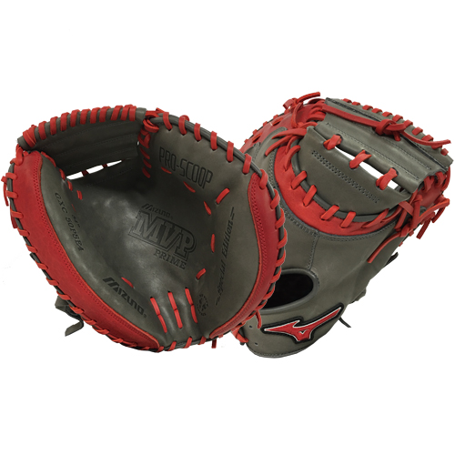 mizuno-mvp-prime-se-catchers-mitt-smoke-red-right-hand-throw GXC50PSE4-SMOKE-RED-RightHandThrow Mizuno 041969557815 34.00 Inch Pattern Bio Soft Leather - Pro-Style Smooth Leather That