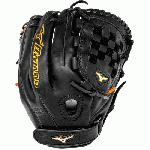 Mizuno MVP Prime SE GMVP1200PSEF1 Fastpitch 12 Inch Infielder Glove Black/Orange, Right Handed Throw
