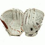 The Mizuno GMVP1300PSEF1 is a 13.00 inch fast pitch pitcher outfielder's glove that features Oil Plus leather for exceptional feel and firm control. The Power Lock closure provides the quickest and most secure fit available. Professional style Oil Plus leather has the perfect balance of oiled softness for exceptional feel and firm control that serious players demand. Durable Steer Soft palm liner. Power Lock closure provides the quickest and most secure fit available. Tartan web.