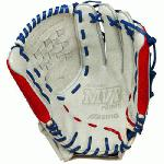 Mizuno MVP Prime SE GMVP1300PSEF1 Pitcher Outfielder Glove Silver/Red, Right Handed Throw