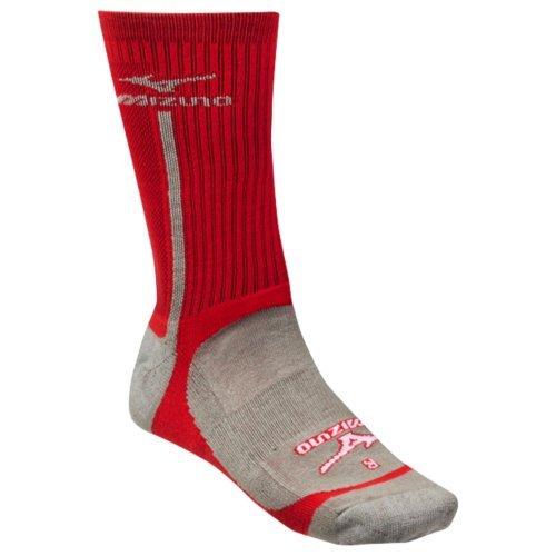 mizuno-performance-highlighter-crew-sock-red-gray-small 480115-RedGraySmall Mizuno New Mizuno Performance Highlighter Crew Sock RedGray Small  The Mizuno performance