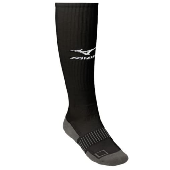 55% Combed Cotton, 30% Polyester, 13% Nylon, 2% Spandex Imported Gripper top keeps sock up Padded heel and forefoot X-wrap for stability Striped arch for greater support Y-heel locks sock in place