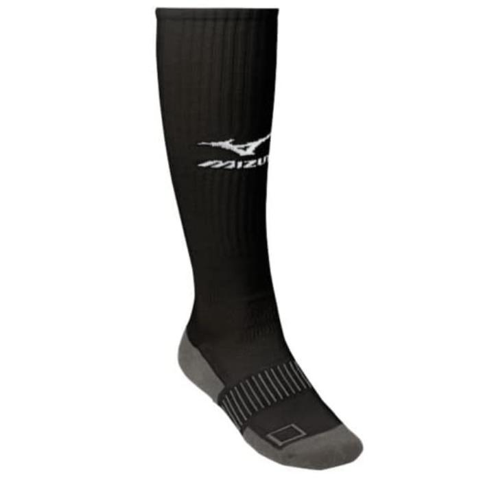 mizuno-performance-plus-knee-hi-sock-small-black 480113-BlackSmall   55% Combed Cotton 30% Polyester 13% Nylon 2% Spandex Imported Gripper
