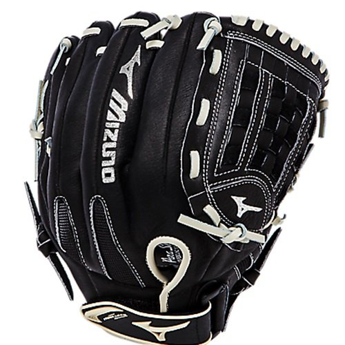 Mizuno Premier Softball Glove 12 inch Premier Series features full-grain leather shell. Premier Series features full-grain leather shell. ParaShock Plus palm pad. A polyurethane PowerLock strap secures the glove to your hand. Open back design for all sized hands. 12.00 Inch Utility. Arched Tartan Web.