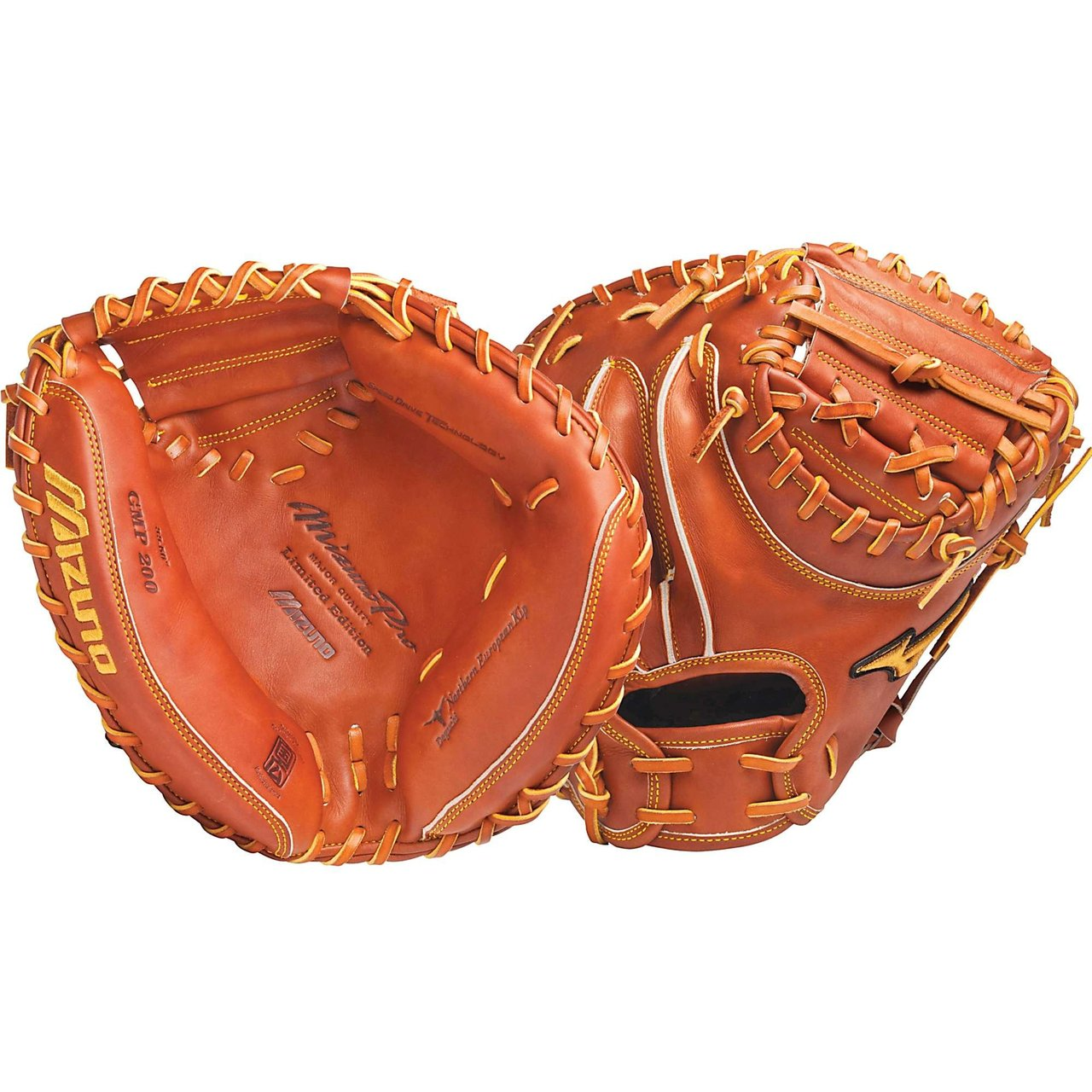 Mizuno Pro Limited catchers mitt. The best catchers mitt Mizuno makes, used by major league catchers using the best leather and materials.