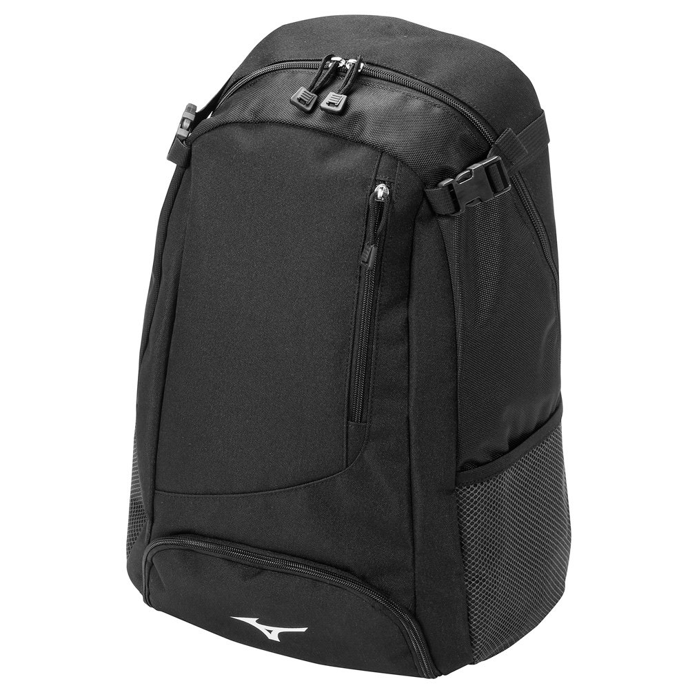 mizuno-prospect-baseball-softball-pack-backpack-bag-black 360185-Black Mizuno 041969458655 The Mizuno Prospect Backpack is an entry level bag with padded