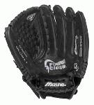 The Mizuno GPL1209B is a 12.00 youth fastpitch glove that features multiple technologies to make it easier for younger players to close the glove and catch the ball.