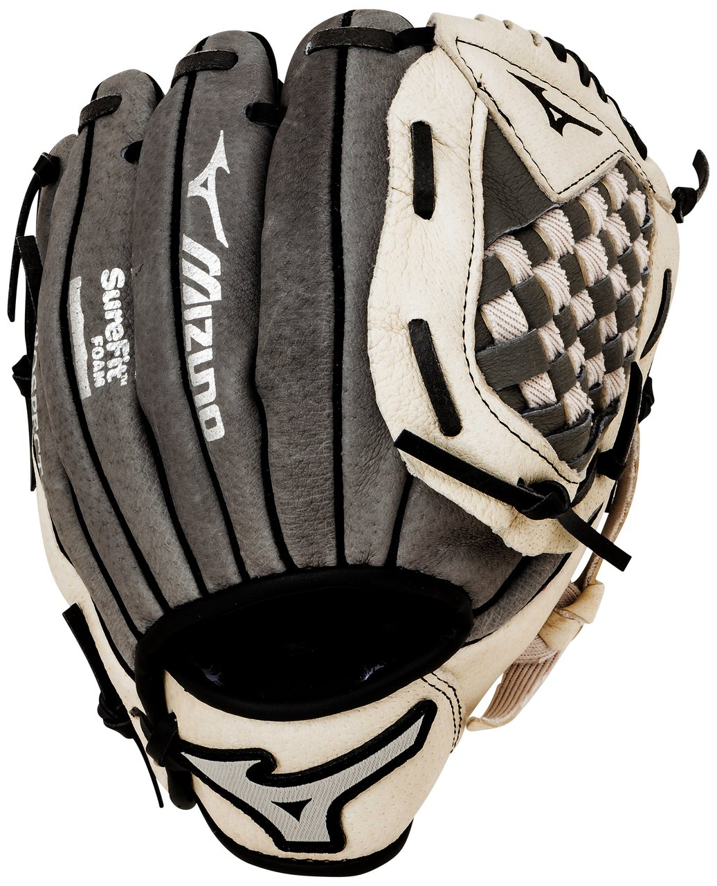 mizuno-prospect-gpp900y1gy-grey-9-inch-youth-baseball-glove-left-handed-throw GPP900Y1GY-Left Handed Throw Mizuno 041969127926 Mizuno Prospect Series Youth Gloves. Patented Power Close makes catching easy.