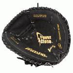 Mizuno Prospect GXC112 Baseball Catcher's Mitt 31.5 (Right Handed Throw) : Mizuno Prospect GXC112 Baseball Catcher's Mitt 31.5. The Prospect is made to help younger players fall in love the game. Designed with PowerClose technology to make catching easy, and crafted to last. This is where future hall of famers get their start! The ORIGINAL Technology to help youth players. ParaShock™ palm pad and Butter Soft lining in selected models reduce shock to minimize sting. Patented PowerClose® MAKES CATCHING EASY! Powerlock™ closure for maximum performance. Helps youth players learn to catch the right way; in the pocket. 31.50 Youth Sized. Style 311668 Technology. Parashock Palm Pad. PowerClose Technology. PowerLock. V-Flex Notch.