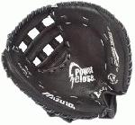 Mizuno Prospect GXS101 Youth Fastpitch Catcher's Mitt (Left Handed Throw) : The Mizuno Prospect Series GXS101 is a 32.50 Youth sized Fastpitch Catcher's Mitt that features the patented Para Shock palm, which absorbs the shock of repeated use, providing less rebound, outstanding protection, and ideal comfort.