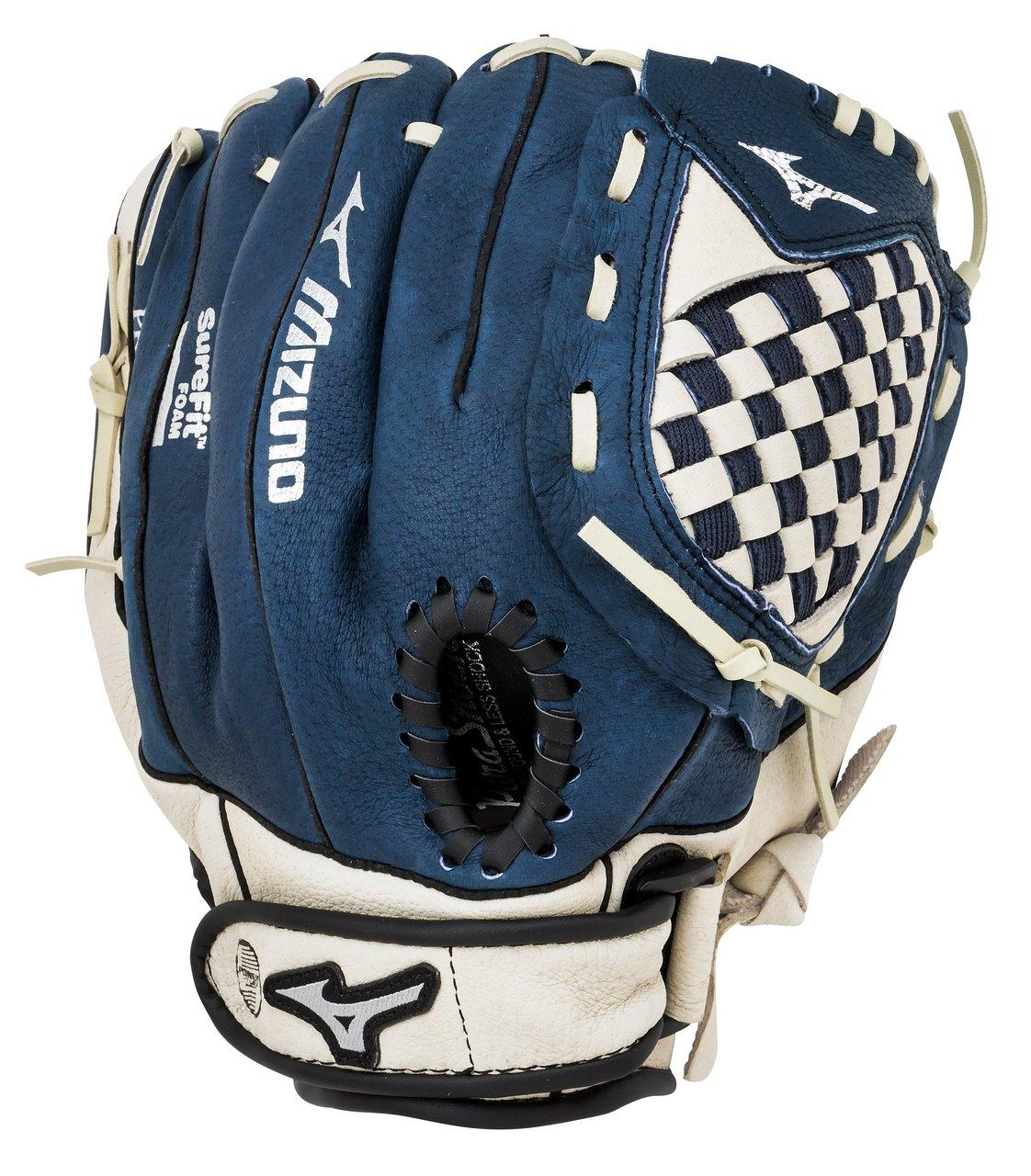 mizuno-prospect-series-11-inch-gpp1100y1-navy-youth-baseball-glove-left-handed-throw GPP1100Y1NY-Left Handed Throw Mizuno 041969127865 Mizuno Prospect Series Baseball Glove for Youth Baseball Player. Size 11