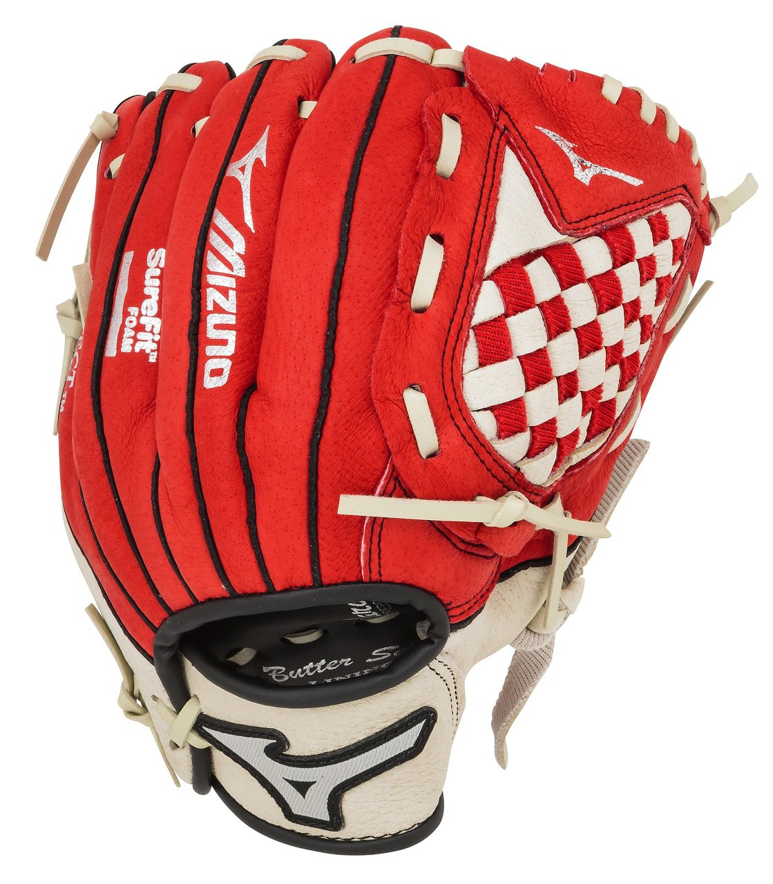 mizuno-prospect-series-gpp1000y1rd-10-inch-red-youth-baseball-glove-left-handed-throw GPP1000Y1RD-Left Handed Throw Mizuno 041969127902 Mizuno Youth Prospect Series Baseball Gloves. Patented Power Close makes catching
