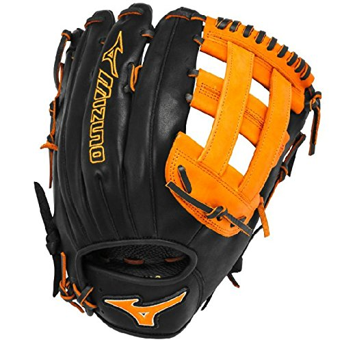 mizuno-slowpitch-gmvp1300pses3-softball-glove-13-inch-black-orange-right-hand-throw GMVP1300PSES3-Black-OrangeRightHandThrow Mizuno New Mizuno Slowpitch GMVP1300PSES3 Softball Glove 13 inch Black-Orange Right Hand Throw