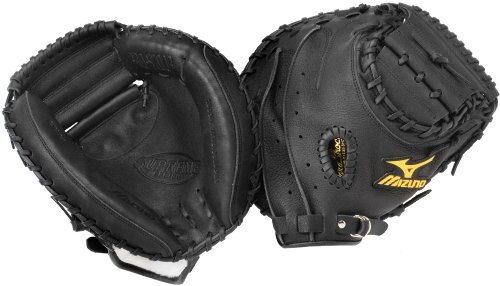 mizuno-supreme-series-gxc94-catchers-mitt-33-5-left-handed-throw GXC94-Left Handed Throw Mizuno 041969998786 Mizunos catchers mitts are made from top quality leather and utilize
