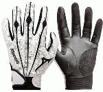 Mizuno Vintage Pro Batting Gloves. Same design as worn by top professional players. Mizunos Sensor Point palm, strategically applies embossed locations for improved grip.