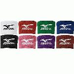Mizuno Wristbands 370107 2 Inch Wristbands (Purple) : 80% Cotton  10% Nylon  10% Elastic Soft, thick terry construction absorbs perspiration and keeps bands dry with comfort Washable and durable with Runbird embroidered logo 2 inch length 3 inch width Sold by the pair 370107