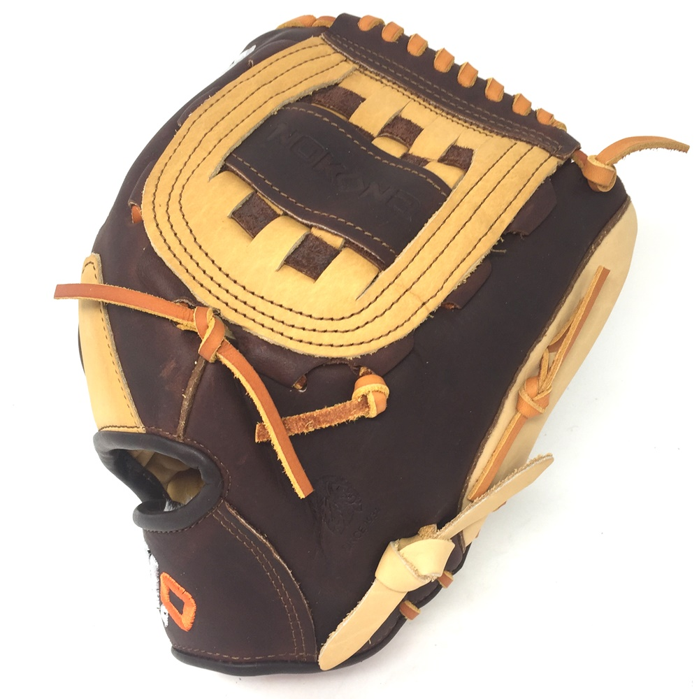 nokona-alpha-12-inch-baseball-glove-s-1200c-right-hand-throw S-1200C-Bison-RightHandThrow Nokona 808808891581 Bison palm. 12.00 Inch Pattern Constructed With American Buffalo & Top