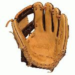 Nokona Alpha Baseball Glove 11.25 inch I Web (Right Hand Throw) : The Nokona Alpha series has been expanded to include full-sized baseball patterns. This performance series is made with top-of-the-line Stampede and Buffalo leathers for top travel, high-school, college, and pro players. The combination of these two proprietary leathers makes Alpha gloves light weight and ready for play with minimal need for break-in, and provides ideal structure and balance. A new-generation, full grain, full oil, performance Steerhide that creates a ready-for-play glove. First introduced by Nokona in 2014, Stampede leathers presence within their line is quickly expanding due to its unique performance features and growing popularity. This proprietary leather is renowned for its flexibility and light weight, while retaining its shape and fit. The history of the buffalo and its status as an American icon make this leather and glove a true American